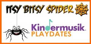 itsy bitsy spider playdate logo halloween orlando
