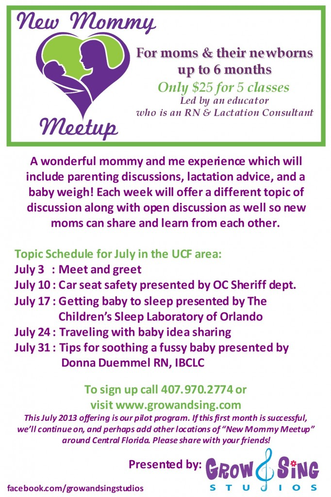 mommy meetup flyer