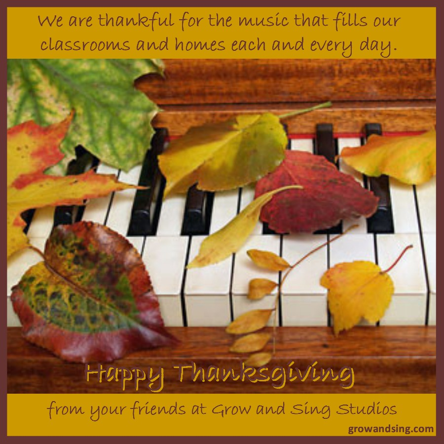 grow and sing thanksgiving