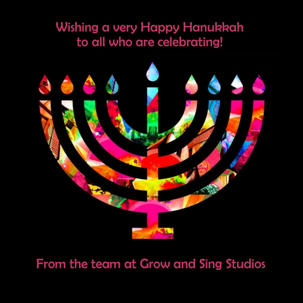 menorah happy hanukkah from grow and sing studios