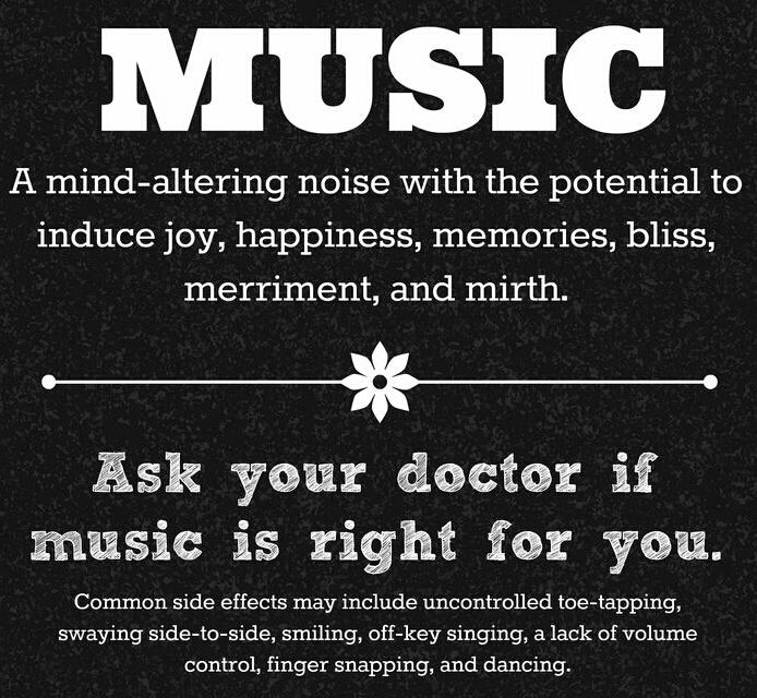 Music is an over the counter mood booster