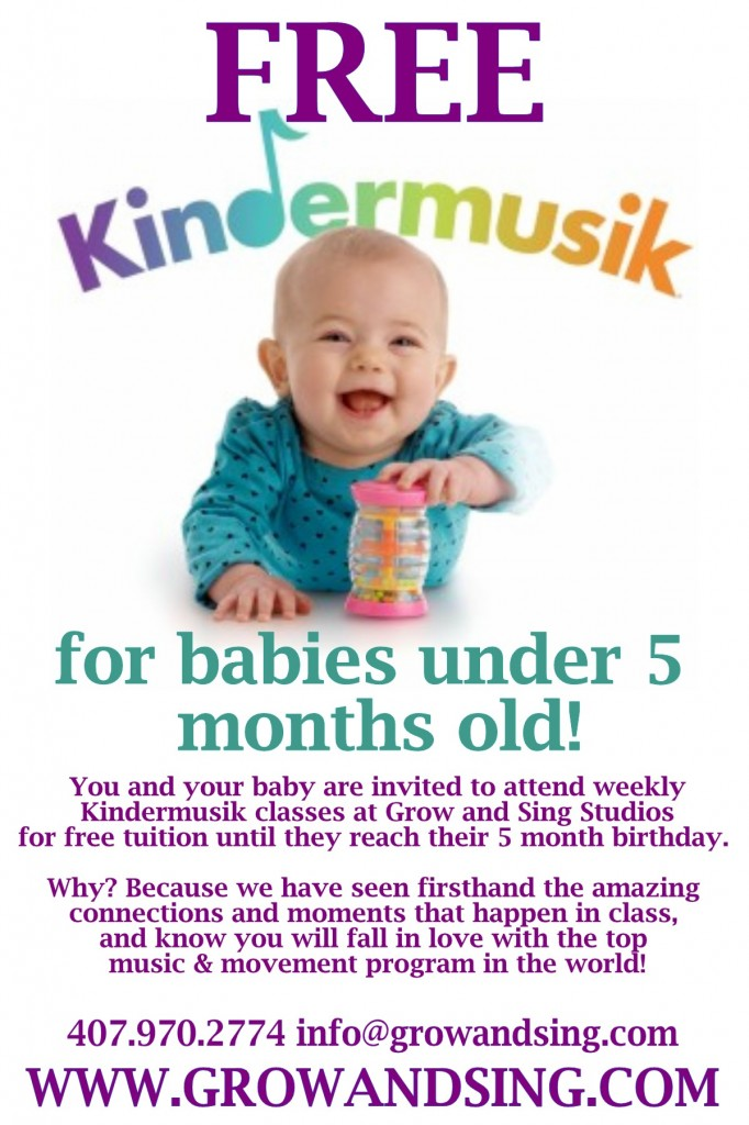 free kindermusik for newborn babies at Grow and Sing Studios Florida
