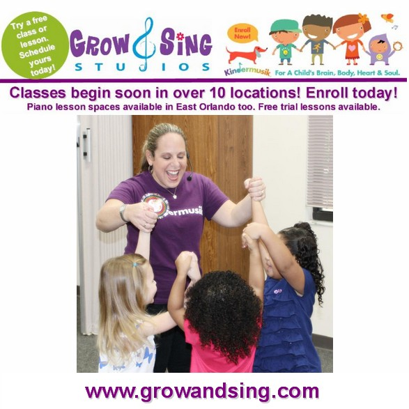 Kindermusik with Grow and Sing Studios - baby and toddler music classes in orlando