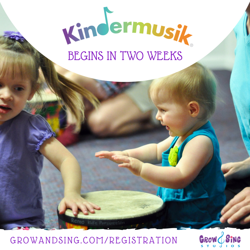 KINDERMUSIK BEGINS IN TWO WEEKS
