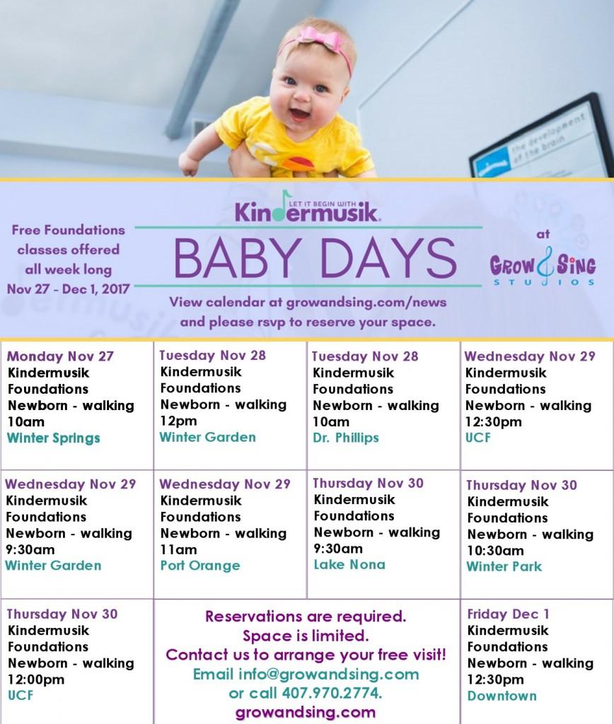baby days 2017