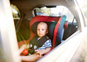 baby in backseat